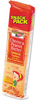 Picture of item KEB-21165 a Keebler® Sandwich Crackers,  Cheese & Peanut Butter, 8-Piece Snack Pack, 12/Box