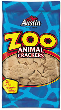 Picture of item KEB-40975 a Austin® Zoo Animal Crackers,  Original, 2oz Pack, 80/Carton