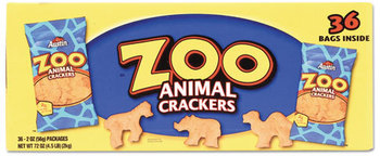 Picture of item KEB-827545 a Austin® Zoo Animal Crackers,  Original, 2 oz Pack, 36 Packs/Box