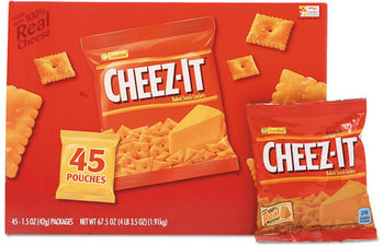 Picture of item KEB-827553 a Sunshine® Cheez-it® Crackers,  Original, 1.5 oz Pack, 45 Packs/Carton