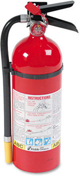 Picture of item KID-466112 a Kidde ProLine™ Dry-Chemical Commercial Fire Extinguisher,  3 A, 40 B:C, 195psi, 16.07h x 4.5 dia, 5lb