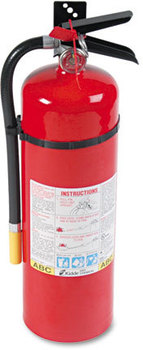 Picture of item KID-466204 a Kidde ProLine™ Dry-Chemical Commercial Fire Extinguisher,  4 A, 60 B:C, 195psi, 19.52h x 5.21 dia, 10lb