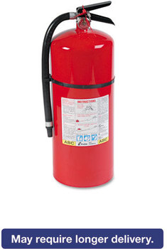Picture of item KID-466206 a Kidde ProLine™ Dry-Chemical Commercial Fire Extinguisher,  6-A:80-B:C, 195psi, 21.6h x 7 dia, 18lb