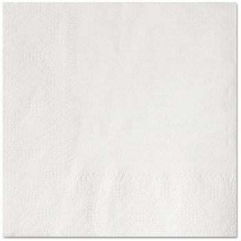 Hoffmaster® 2-Ply Embossed Beverage Napkins. 9 1/2 X 9 1/2 in. White. 1000 count.