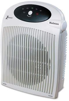 Holmes® Heater Fan with ALCI Safety Plug,  Plastic Case, 10 1/4 x 6 1/2 x 12 1/2, White
