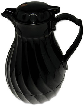 Hormel Swirl Design Poly Lined Carafe,  Swirl Design, 40oz Capacity, Black