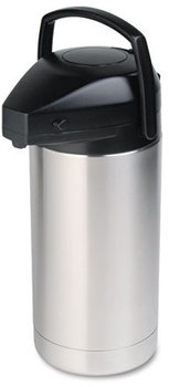 Hormel Commercial Grade Jumbo Airpot,  3.5L, Stainless Steel/Black