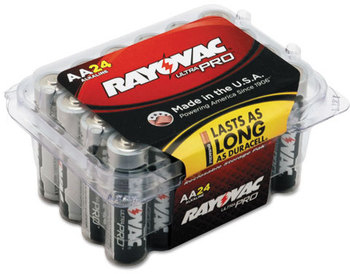 Picture of item RAY-ALAA24F a Rayovac® Ultra Pro™ Alkaline Batteries,  AA, 24/Pack