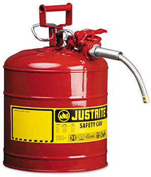"JUSTRITE® AccuFlow™ Safety Can,  Type II, 5gal, Red, 5/8"" Hose"
