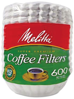 Picture of item MLA-631132 a Melitta® Basket Style Coffee Filters,  Paper, 8 to 12 Cups, 7200/Carton