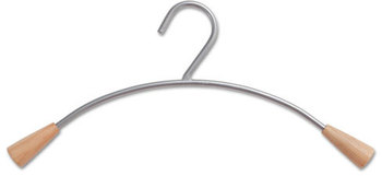 Picture of item ABA-PMCIN6 a Alba™ Hangers,  6/Set, Metal/Wood, Gray/Mahogany