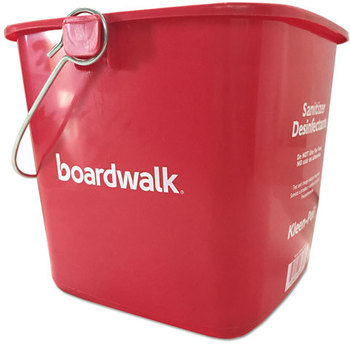 Picture of item BWK-KP196RD a Boardwalk® Kleen-Pail® Bucket,  6 qt, Red, Plastic