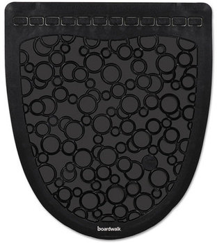 Picture of item BWK-UMBB a Boardwalk® Rubber Urinal Mats. 17 1/2 X 20 in. Black. 6 count.