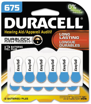 Picture of item DUR-DA675B12ZMR0 a Duracell® Button Cell Battery,  675, 12/Pk