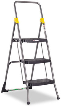 Cosco® Commercial Step Stool,  300lb Cap, 20 1/2w x 32 5/8d x 52 1/8h, Gray