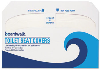 Boardwalk® Premium Toilet Seat Covers,  250 Covers/Sleeve, 4 Sleeves/Carton