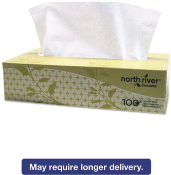 Picture of item CSD-4082 a Cascades North River® Facial Tissue,  2-Ply, 8 1/2 x 7 1/2, 100/Box, 30 Boxes/Carton