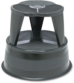 Cramer® Kik-Step® Stool,  16 dia. x 14 1/4h, to 350lb, Black