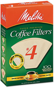 Picture of item MLA-624602 a Melitta® Basket Style Coffee Filters,  Paper, 8 to 12 Cups, 1200/Carton