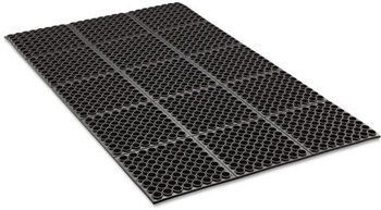 Crown Safewalk™ Heavy-Duty General Purpose Anti-Fatigue Drainage Mat. 36 X 60 in. Black.
