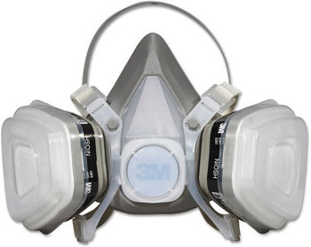 Picture of item MMM-52P71 a 3M Half Facepiece Disposable Respirator Assembly,  Organic Vapor/P95, Medium