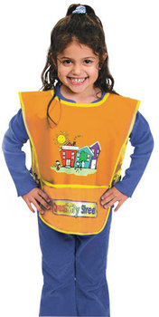 Picture of item CKC-5207 a Creativity Street® Artist Smock,  Fits Kids Ages 3 8, Vinyl, Bright Colors