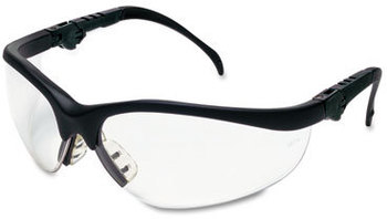 Picture of item CRW-KD310 a Crews® Klondike® Plus Safety Glasses,  Black Frame, Clear Lens