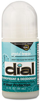 Dial® Anti-Perspirant Deodorant,  Crystal Breeze, 1.5oz, Roll-On, 48/Carton