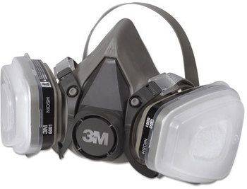 Picture of item MMM-6111PA1A a 3M Half Facepiece Paint Spray/Pesticide Respirator,  Small