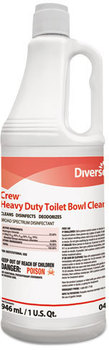 Picture of item P604-217 a Diversey™ Crew® Heavy Duty Toilet Bowl Cleaner,  Minty, 32 oz Squeeze Bottle, 12/Carton