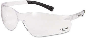 Picture of item CRW-BKH15 a Crews® BearKat® Magnifier Safety Glasses,  Clear Frame, Clear Lens