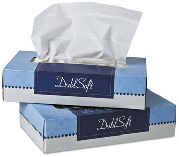 Picture of item 886-500 a Wausau Paper® DublSoft® Facial Tissue,  2-Ply, 100 per Box, 30 Boxes/Carton