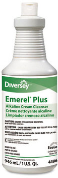 Picture of item DVO-94496138 a Diversey™ Emerel® Plus Cream Cleanser,  Odorless, 32 oz Squeeze Bottle, 12/Carton