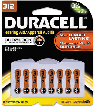 Duracell® Button Cell Battery, 312, 8/Pk