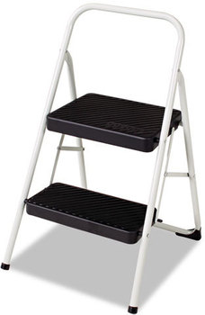 Cosco® Two-Step Folding Step Stool,  200lbs, 17 3/8w x 18d x 28 1/8h, Cool Gray