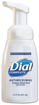 Picture of item 973-236 a Dial Complete® Antimicrobial Foaming Hand Soap Pump Bottle,  7.5 oz Tabletop Pump, 12/Carton