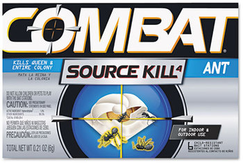 Combat® Source Kill Ant Bait Station,  Child-Resistant, Kills Queen & Colony, 6/Box