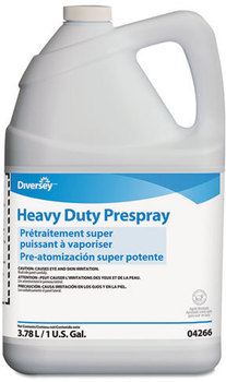 Picture of item P650-207 a Diversey™ Carpet Cleanser Heavy-Duty Prespray,  1gal Bottle, Fruity Scent, 4/Carton