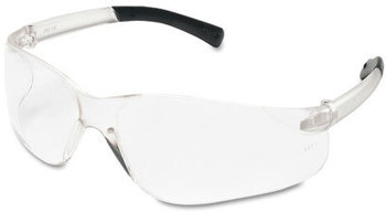 Picture of item CRW-BK110 a Crews® BearKat® Safety Glasses,  Wraparound, Black Frame/Clear Lens