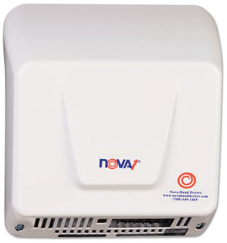Picture of item WRL-083000000 a WORLD DRYER® NOVA Hand Dryer,  110-240V, Aluminum, White