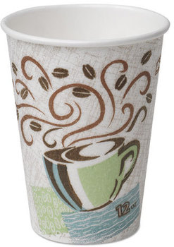 Picture of item 103-094 a Dixie® PerfecTouch® Paper Hot Cups,  Paper, 12oz, Coffee Dreams Design, 500/Carton