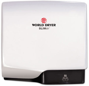 Picture of item WRL-L974A a WORLD DRYER® SlimDri Hand Dryer. White Aluminum.