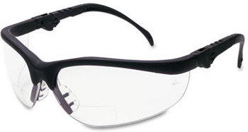 Picture of item CRW-K3H15 a Crews® Klondike® Magnifier Safety Glasses,  1.5 Magnifier, Clear Lens