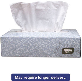 Picture of item CSD-4084 a Cascades Cascades Elite™ Facial Tissue,  2-Ply, 8 1/2 x 7 1/2, White, 100/Bx, 30 Bx/Carton
