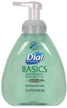 Dial® Professional Basics Foaming Hand Soap,  Honeysuckle, 15.2 oz Pump Bottle, 4/Case