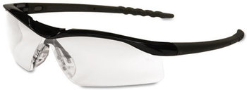 Picture of item CRW-DL110 a Crews® Dallas™ Safety Glasses,  Black Frame, Clear Lens