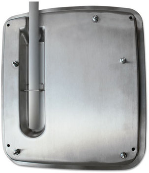 WORLD DRYER® VERDEdri Hand Dryer Top Entry Adapter Kit,  14 3/8 x 1 1/4 x 13 1/2, Stainless