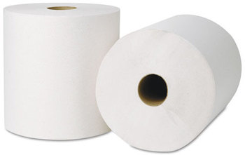 Picture of item 875-504 a EcoSoft® Universal Roll Towels. 8 in X 800 ft. Natural White. 6 rolls.