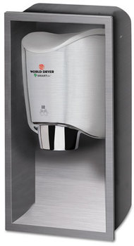 WORLD DRYER® SMARTdri Hand Dryer Recess Kit,  15 x 4 x 25, Stainless Steel