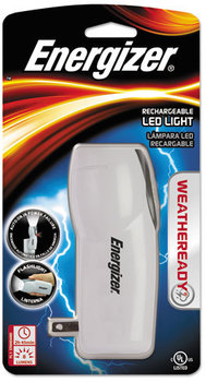 Energizer® Weather Ready® LED Flashlight,  1 NiMH, Silver/Gray